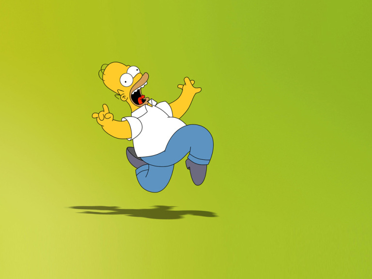 2 wallpaper cartoon simpsons 1024x768